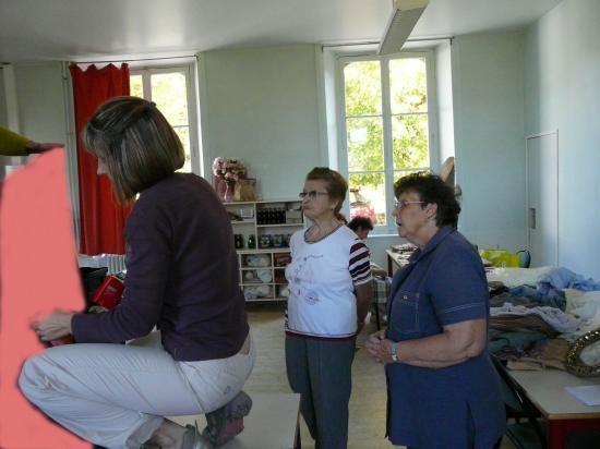 Préparation de la crèche 2010
